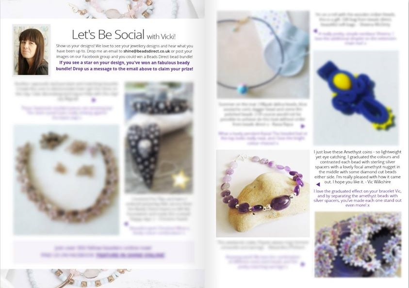 My Amethyst & Sterling Silver Bracelet is in Shine Online!